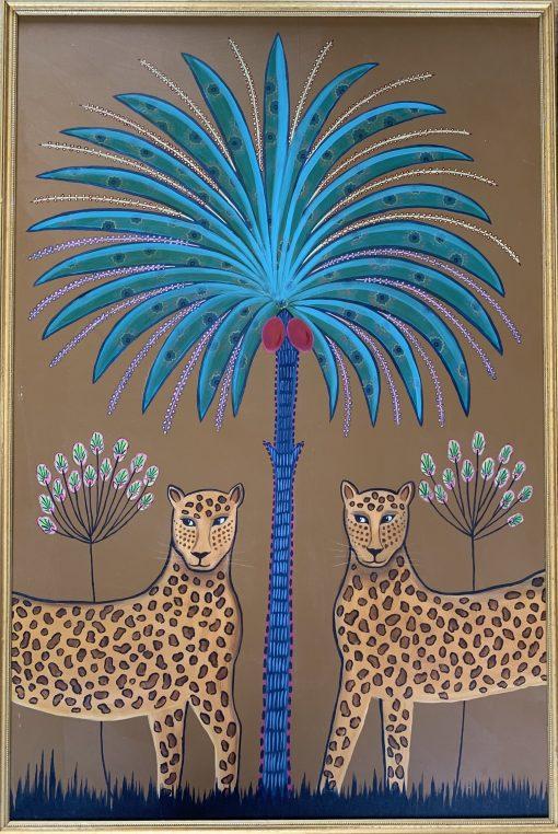 Daphne Stephenson, Two Leopards (triptych) 1