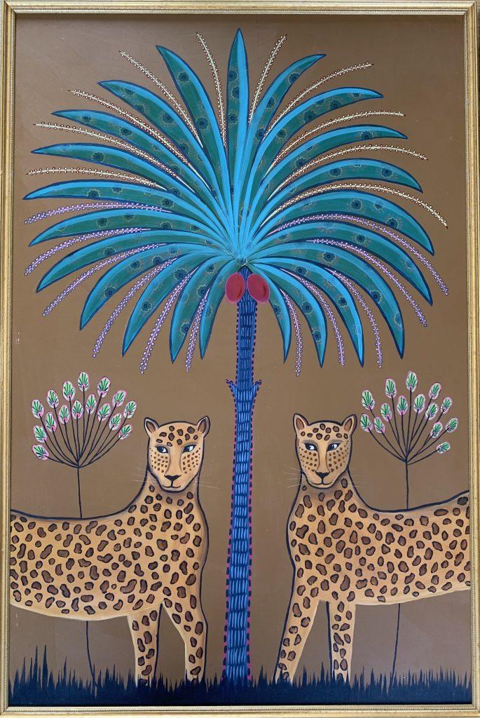 Daphne Stephenson, Two Leopards (triptych) 3