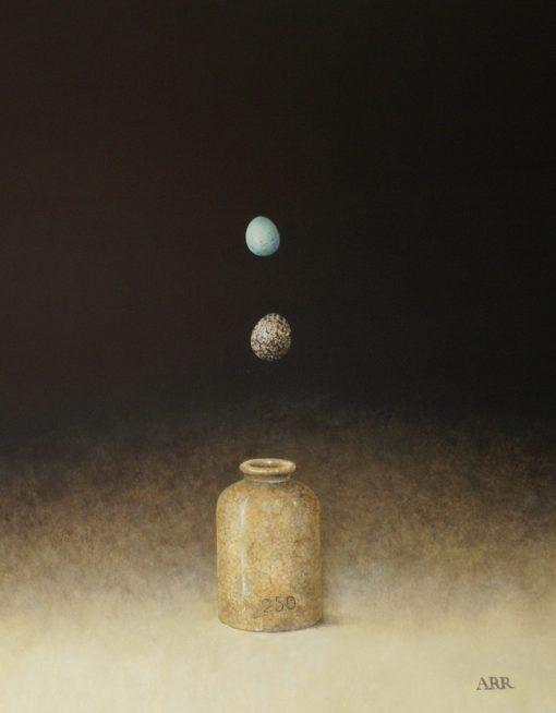 Alison Rankin, Old Jar with Falling Eggs 1