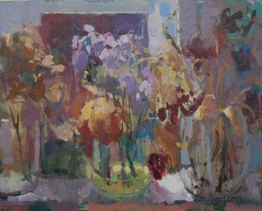 Nia Mackeown, Window Sill with Dried Flowers 1