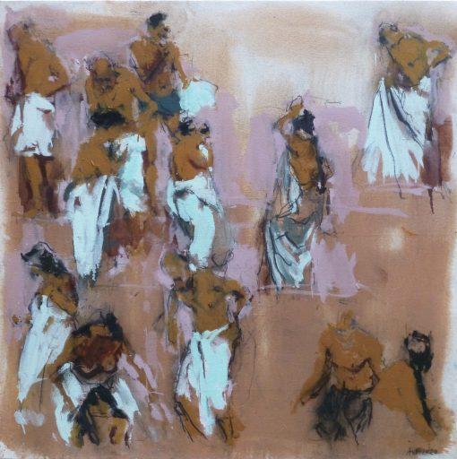 Anna Pinkster, Bathers Varanasi II 1