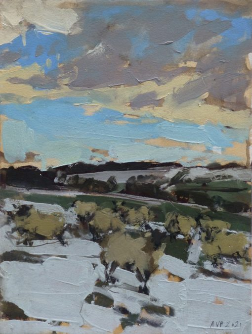 Anna Pinkster, Sheep in Snow, Somerset 1