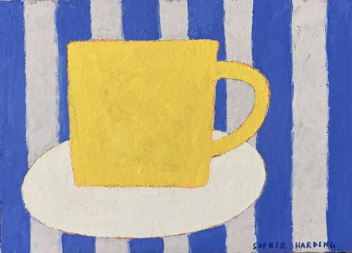 Sophie Harding, Yellow Cup on Blue Stripes 3