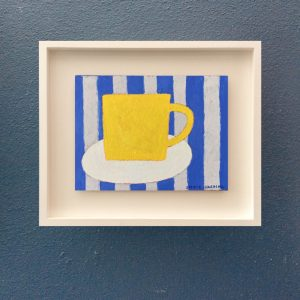 Sophie Harding, Yellow Cup on Blue Stripes 4