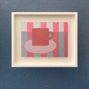 Sophie Harding, Pink Cup on Pink Stripes 4