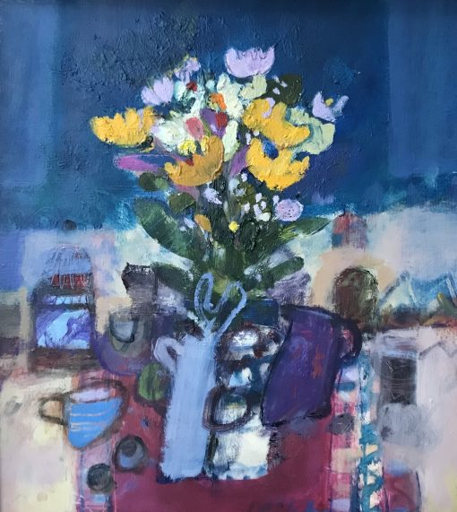 Rory McLauchlan, Still Life with Marigolds 1