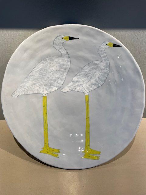 Gemma Orkin, Hand Painted Ceramic Platter (17) 1