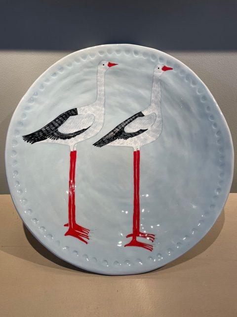 Gemma Orkin, Hand Painted Ceramic Platter (16) 1