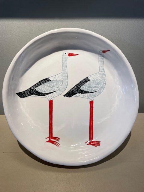 Gemma Orkin, Hand Painted Ceramic Platter (09) 1