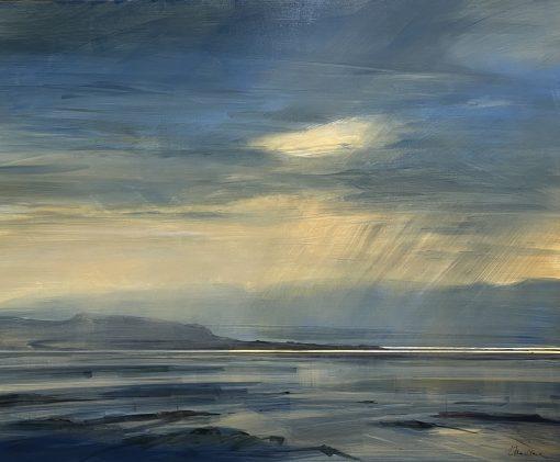 Zarina Stewart-Clark, Evening Shower over Skye from Gairloch 1