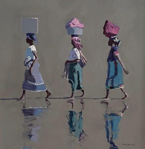 Patrick Gibbs, Three Women Walking, Mozambique 1