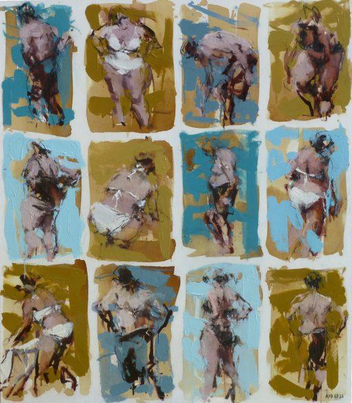 Anna Pinkster, Twelve Bathers VIII 1